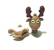 4GB Christmas USB Flash Drive Cartoon Christmas Deer Christmas Gift USB 2.0