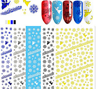 5 Nail Art Sticker  Pattern 3D Nail Stickers 3-D Christmas Sticker DIY Supplies Makeup Cosmetic Nail Art Design