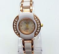 Women's Fashion Watch Bracelet Watch Casual Watch Quartz Alloy Plastic Band Sparkle Casual White Rose Gold