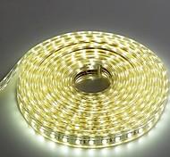 Недорогие -5м 220v Higt яркие светодиодные полосы света гибкие 5050 300smd три кристаллические водонепроницаемый свет бар света сада с штепсельной