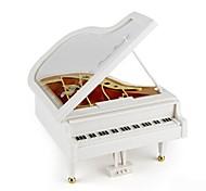 Caja de música Juguetes Piano Madera Piezas Unisex Cumpleaños día de San Valentín Día del Niño Regalo