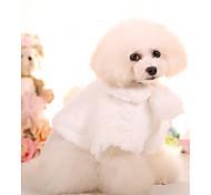 Собака Плащи Одежда для собак Теплый Милый стиль На каждый день Принцесса Белый Розовый Костюм Для домашних животных