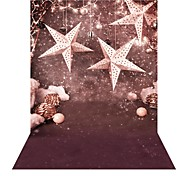 andoer 1.5 * 2m фотография фон снежинка рождественская звезда колокол шаблон для детей студия портрет съемки