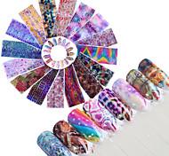 Недорогие -16 Блеск С рисунком Аксессуары Ар деко / Ретро 3D-стикеры для ногтей Стикер Компоненты для самостоятельного изготовления 3-D Мода