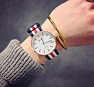 cheap -Men's Women's Quartz Wrist Watch Chinese / Nylon Band Luxury Vintage Casual Elegant Fashion Black Brown