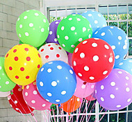 cheap -20Pcs/Lot Latex Balloons 12 Inch Polka Dot Wedding Decoration Balloons