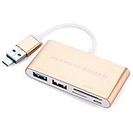 5 Ports USB Hub USB 2.0 USB 3.0 Micro USB 2.0 With Card Reader(s) Ultra Slim OTG Data Hub