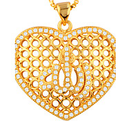 Women's Pendants AAA Cubic Zirconia Flower Alphabet Shape Zircon Copper Gold Plated Fashion Jewelry ForParty Halloween Daily Casual