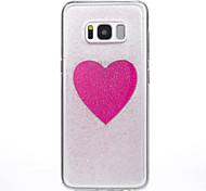 Funda Para Samsung Galaxy S8 Plus S8 Traslúcido Diseños Cubierta Trasera Corazón Suave Silicona para S8 S8 Plus S7 edge S7