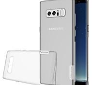 Hülle Für Samsung Galaxy Note 8 Ultra dünn Transparent Rückseitenabdeckung Volltonfarbe Weich TPU für Note 8