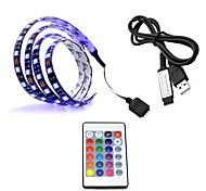 USB-источник питания rgb светодиодная лента свет лампа водонепроницаемая 50 см 2,2 Вт 30leds 5050smd rgb свет светодиодная лента лампа