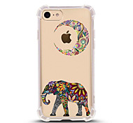 cheap -Case For Apple iPhone X iPhone 8 Ultra-thin Transparent Pattern Back Cover Elephant Soft TPU for iPhone X iPhone 8 Plus iPhone 8 iPhone 7