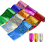 cheap -9pcs/set Stickers & Tapes Nail Sticker Foil Sticker Glamorous Glitter Nail Art DIY Tool Accessory Nail Decals Nail Art Design