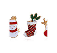 Women's Brooches Fashion Chrismas Alloy Jewelry For Casual Christmas