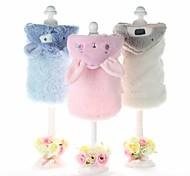 Dog Coat Clothes/Jumpsuit Dog Clothes Keep Warm Rabbit/Bunny Gray Blue Pink