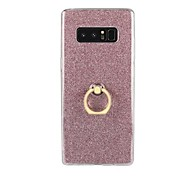 abordables -Funda Para Samsung Galaxy Nota 8 Note 5 Soporte para Anillo Funda Trasera Brillante Suave TPU para Note 8 Note 5 Note 4 Note 3