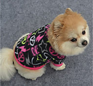 cheap -Dog Sweatshirt Dog Clothes Geometic Black Purple Fuchsia Polar Fleece Costume For Pets Casual/Daily