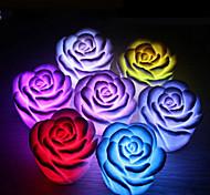 Недорогие -1шт розового цветка, меняющий ночной свет, привел домой украшения для вечеринок