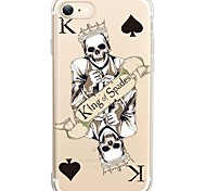 For iPhone X iPhone 8 Case Cover Ultra-thin Transparent Pattern Back Cover Case Skull Soft TPU for Apple iPhone X iPhone 8 Plus iPhone 8
