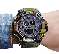 Men's Kid's Sport Watch Fashion Watch Wrist watch Quartz LCD Calendar Water Resistant / Water Proof Dual Time Zones Stopwatch PU Band