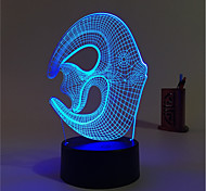 cheap -1 Set, Home Bedroom Acrylic 3D Night Light LED Lamp USB Mood Lamp, Available Battery, Colorful, 3W, Fish