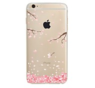 Custodia Per Apple iPhone X iPhone 8 Transparente Fantasia/disegno Custodia posteriore Fiore decorativo Morbido TPU per iPhone X iPhone 8