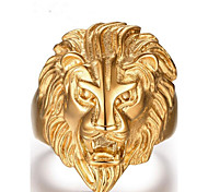 cheap -Men's Band Ring Jewelry Gold Stainless Steel Lion Bohemian Party Daily Costume Jewelry