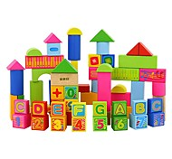 Building Blocks Educational Toy Toys Rectangular 66 Pieces Kids Boys Girls Gift