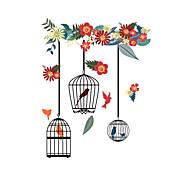 Недорогие -Животные Цветочные мотивы/ботанический Мода Наклейки Простые наклейки Декоративные наклейки на стены материал Украшение дома Наклейка на