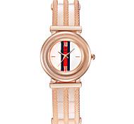 Mulheres Bracele Relógio Chinês Quartzo Rosa Folheado a Ouro Lega Banda Luxuoso Prata Ouro Rose