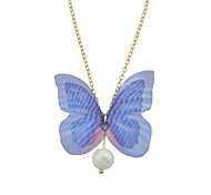 Women's Choker Necklaces Jewelry Butterfly Imitation Pearl Alloy Cute Style Fashion Jewelry For Casual Going out