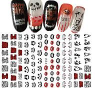 Недорогие -1 Стикер искусства ногтя 3-D Новый год Компоненты для самостоятельного изготовления Стикер макияж Косметические Ногтевой дизайн
