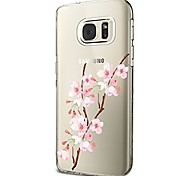 cheap -Case For Samsung Galaxy S8 Plus S8 Transparent Pattern Back Cover Flower Soft TPU for S8 Plus S8 S7 edge S7 S6 edge plus S6 edge S6 S6