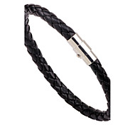 Men's Women's Leather Bracelet Handmade Fashion Leather Alloy Round Jewelry For Casual Going out