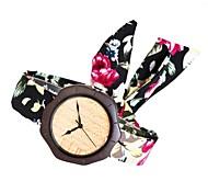 Жен. Модные часы Часы Дерево Японский Кварцевый деревянный Материал Группа Кулоны Творчество Elegant Черный Роуз