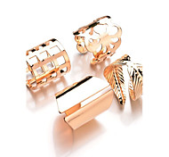 cheap -Women's Alloy Leaf - Leaf Metallic Fashion Gold Silver Ring For Daily Casual Evening Party Formal Date