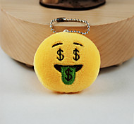 cheap -New Arrival Cute Emoji Dollars Face Key Chain Plush Toy Gift Bag Pendant