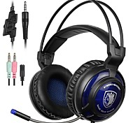 SA805 Over Ear Headband Wired Headphones Dynamic Plastic Gaming Earphone with Microphone with Volume Control Headset