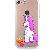cheap -Case For Apple iPhone X iPhone 8 Ultra-thin Transparent Pattern Back Cover Unicorn Cartoon Soft TPU for iPhone X iPhone 8 Plus iPhone 8