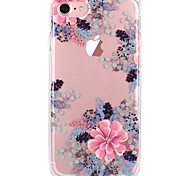 cheap -Case For Apple iPhone X iPhone 8 Transparent Pattern Back Cover Flower Soft TPU for iPhone X iPhone 8 Plus iPhone 8 iPhone 7 Plus iPhone