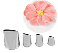 4PCS/Set Roses Piping Mouth Stainless Steel Cake Tools Cake Mold,Baking Tool