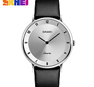 SKMEI Men's Dress Watch Fashion Watch Quartz Water Resistant / Water Proof Leather Band Charm Luxury Cool Casual Black