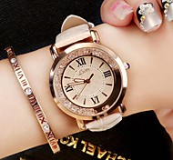 cheap -Women's Quartz Wrist Watch Chinese PU Band Luxury / Sparkle / Vintage / Casual / Elegant / Fashion Black / White / Blue / Pink