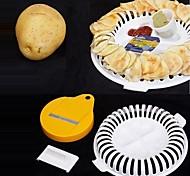 Недорогие -3шт микроволновой печи жира картофеля чип лоток картофеля держатель стойки производитель судов нож инструмент для приготовления пищи