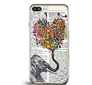 For iPhone X iPhone 8 Case Cover Ultra-thin Pattern Back Cover Case Butterfly Heart Elephant Soft TPU for Apple iPhone X iPhone 8 Plus