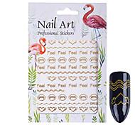 Недорогие -1 Блеск Аксессуары Ар деко / Ретро 3D-стикеры для ногтей Стикер Компоненты для самостоятельного изготовления Мультфильмы 3-D Мода