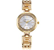 Women's Skeleton Watch Fashion Watch Simulated Diamond Watch Chinese Quartz Alloy Band Casual Silver Gold