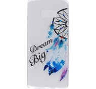 Case for Samsung Note 8 Cover Glow in the Dark Back Cover Case Word / Phrase Dream Catcher Soft TPU