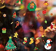 Недорогие -Ар деко Рождество Стикер на окна, ПВХ/винил материал окно Украшение Столовая Для гостиной