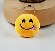 cheap -New Arrival Cute Emoji Foodie Face Key Chain Plush Toy Gift Bag Pendant